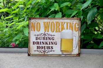 Cartel No Working 30 x 40 cm