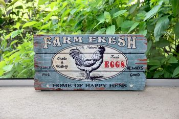 Cartel Farm Fresh Gallo 58 x 29 cm