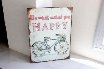 Cartel Happy Bici