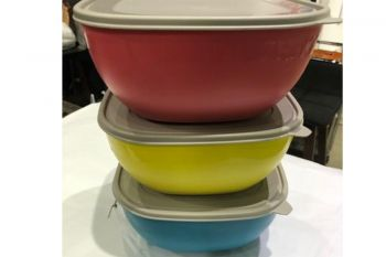 Bowl Tupper Color con tapa Grande